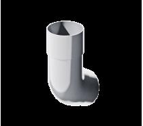 ПВХ колено трубы 135°, белый, шт