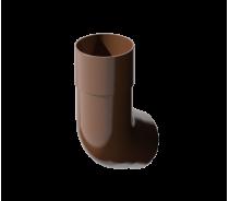 ПВХ колено трубы 135°, коричневый, шт
