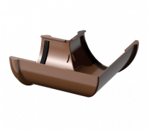 ПВХ угол желоба Технониколь 90°, коричневый, шт