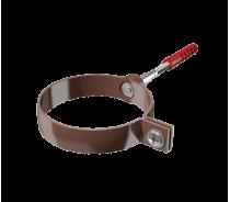 ПВХ хомут трубы универсальный Технониколь L=140мм, коричневый