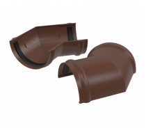 ПВХ угол желоба 135°, коричневый